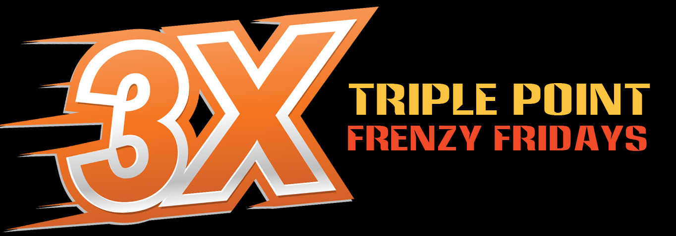 3x Frenzy (Every Friday in September)