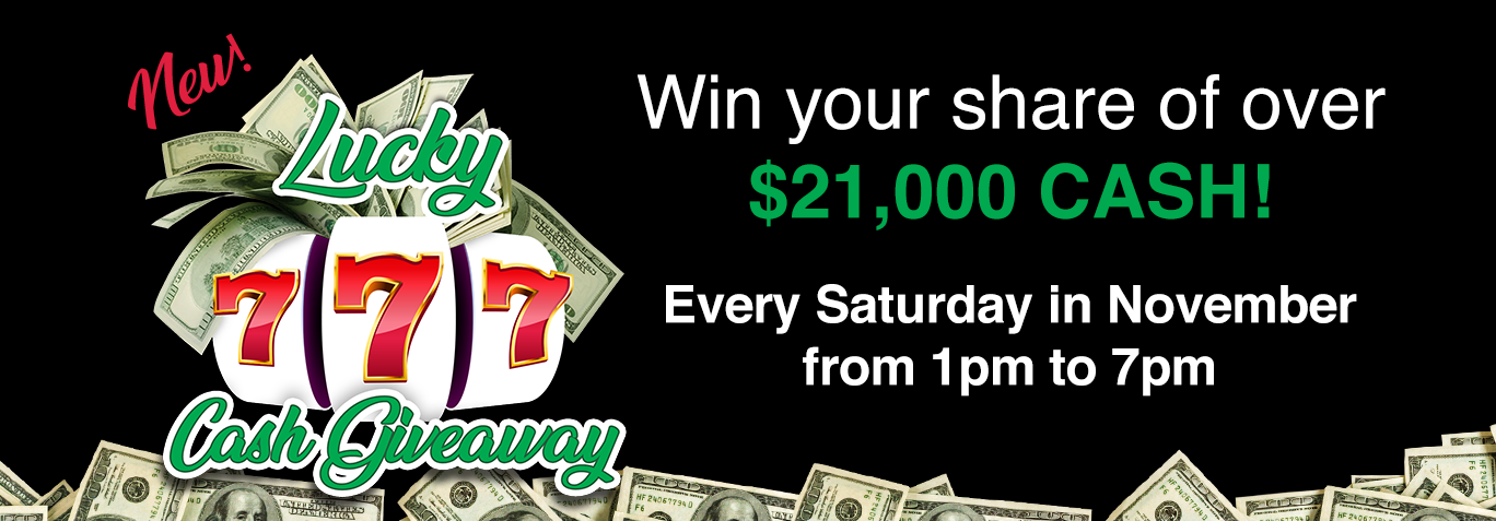 Lucky 777 Cash Giveaway