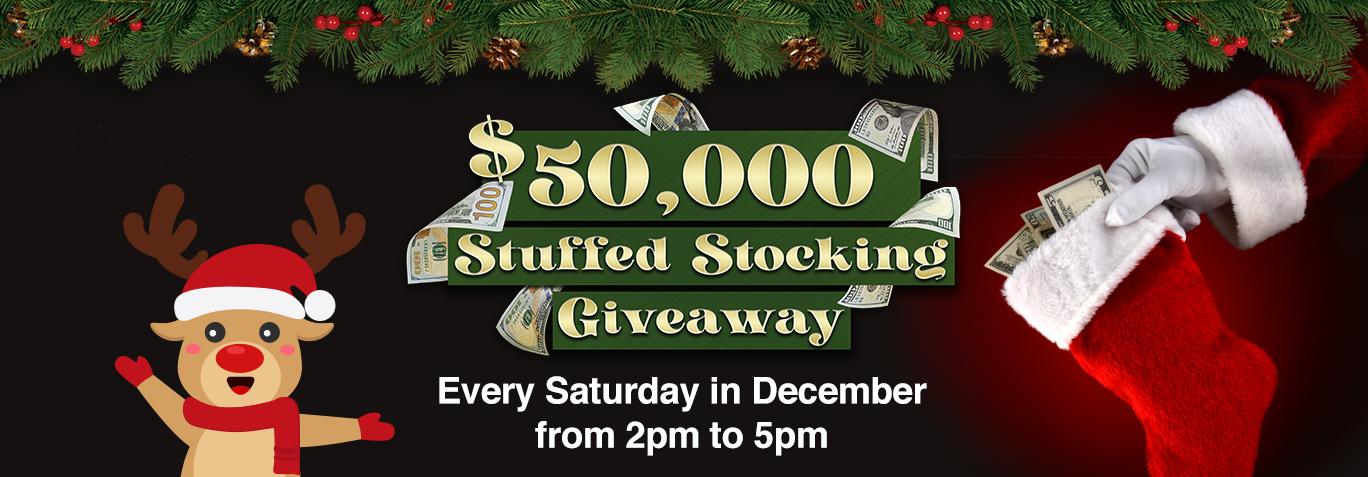 $50,000 Stuffed Stocking Giveaway